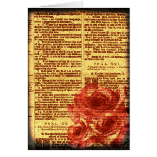 Antique Psalms & Roses Card