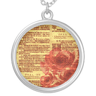 Antique Psalms Roses Necklace