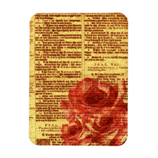 Antique Psalms & Roses Vinyl Magnets