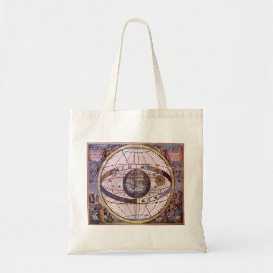 Antique Ptolemaic Solar System, Andreas Cellarius Tote Bag