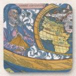 Antique Ptolemaic World Map; Claudius Ptolemy Beverage Coasters