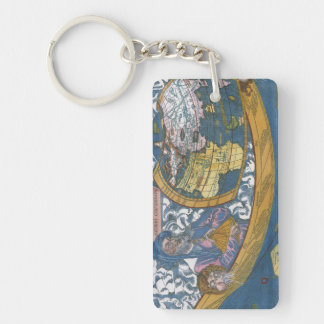 Antique Ptolemaic World Map; Claudius Ptolemy Acrylic Keychain