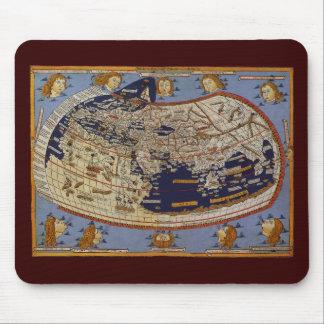 Antique Ptolemaic World Map, Johannes of Arnsheim Mouse Pad