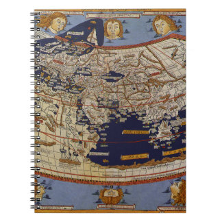 Antique Ptolemaic World Map, Johannes of Arnsheim Notebook