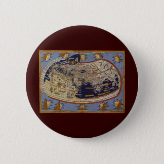 Antique Ptolemaic World Map, Johannes of Arnsheim Pinback Button