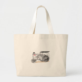 Antique Pulling Tractor Large Tote Bag