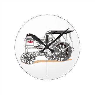 Antique Pulling Tractor Round Clock