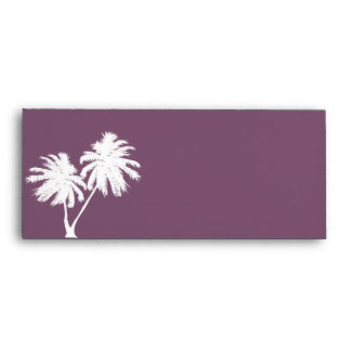 Antique Purple Envelope with Palm Trees
