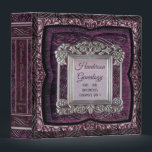 "Antique Purple Genealogy Family Tree Binder Album<br><div class=""desc"">Elegant antique purple and silver ornate genealogy binder for family tree ancestor documents and photos.</div>"