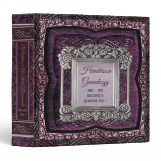 Antique Purple Genealogy Family Tree Binder Album