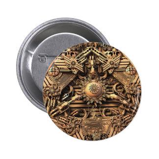 Antique Pyramid Fractal Button