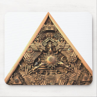 Antique Pyramid Fractal Mouse Pad