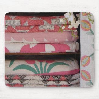 antique quilt cabinet 1 mouse pads