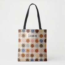 Antique Quilt | LeMoyne Star Patchwork Pattern Tote Bag