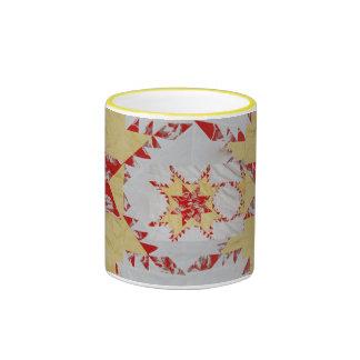 Antique Quilt Ringer Coffee Mug