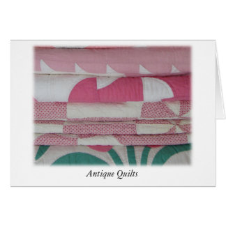 Antique Quilts in Pink Card