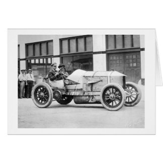 Antique Race Car, 1910s Greeting Card