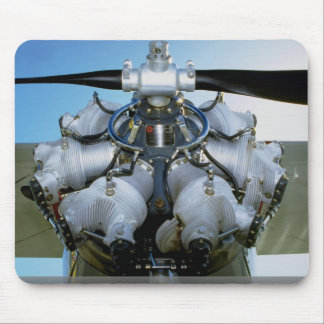 Antique radial engine with prop mouse pad