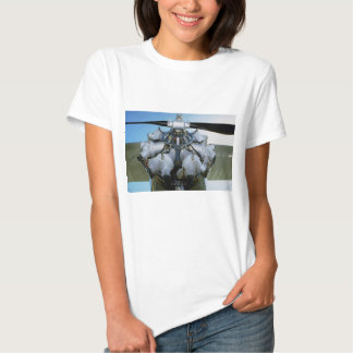 Antique radial engine with prop t-shirt
