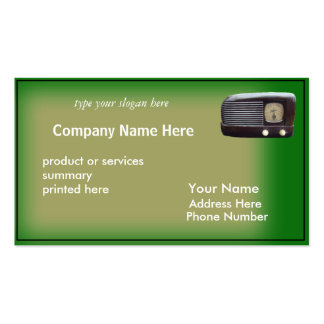 Antique Radio Card-customize Double-Sided Standard Business Cards (Pack Of 100)