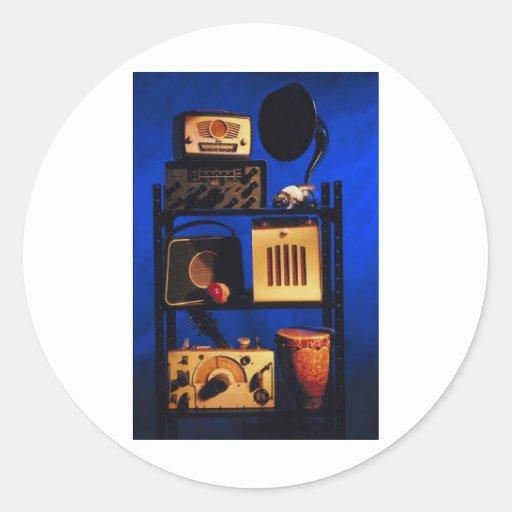 Antique Radio Round Sticker