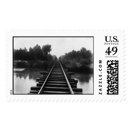 Antique Railroad bridge 1800's Postage