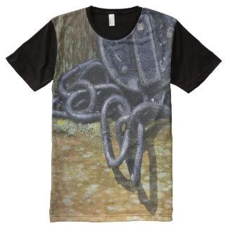 Antique Railroad Lock & Chain All-Over-Print Shirt