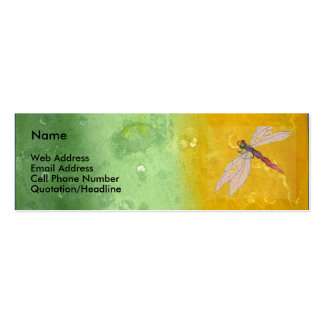 Antique Rainbow/Dragonfly Double-Sided Mini Business Cards (Pack Of 20)