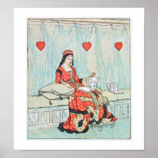Antique Randolph Caldecott Queen of Hearts Print