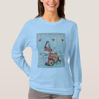 Antique Randolph Caldecott Queen of Hearts Print T-Shirt