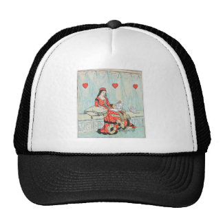 Antique Randolph Caldecott Queen of Hearts Print Trucker Hat