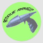 Antique Raygun Green Sticker