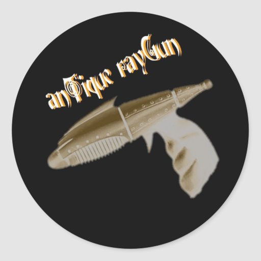 Antique Raygun large sticker