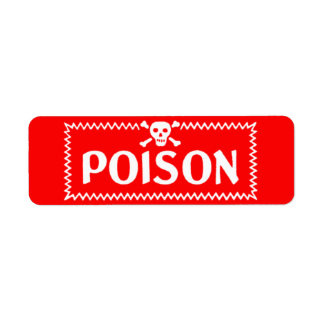 Antique Red and White Poison Label