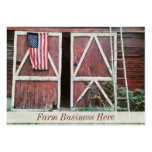 Antique Red Barn Doors With a Flag and Old Ladder Large Business Cards (Pack Of 100)