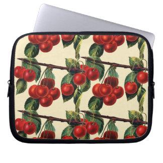 Antique Red Cherry Fruit Wallpaper Design Laptop Computer Sleeve