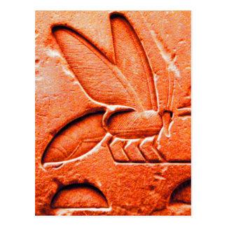 ANTIQUE RED EGYPTIAN HONEY BEE BEEKEEPER POSTCARD