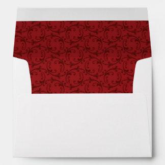 Antique Red Florentine Pattern A7 Invitation Envel Envelope