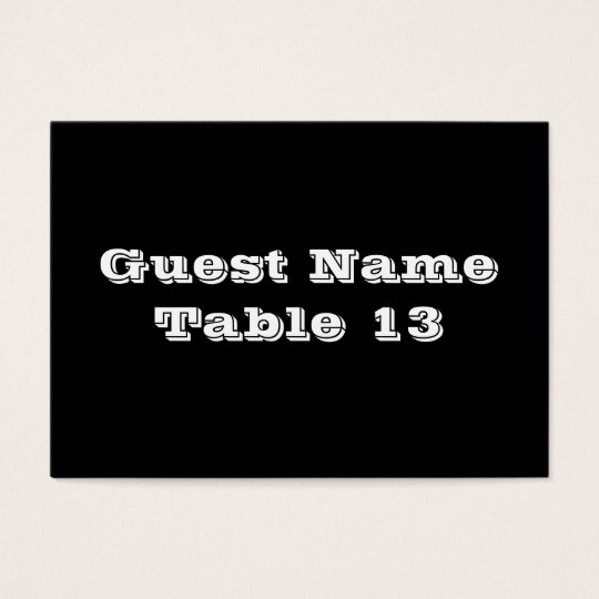 Antique Red Gothic wedding table number card