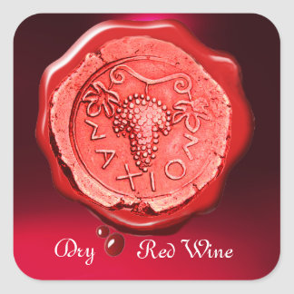 ANTIQUE RED GRAPE WINE RED WAX SEAL