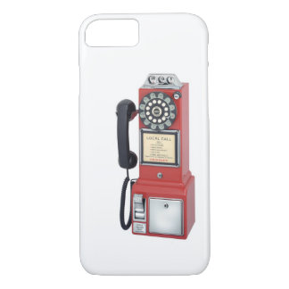 Antique Red Pay Phone iPhone 7 case