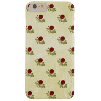 Antique Red Rose Pattern on Parchment Barely There iPhone 6 Plus Case