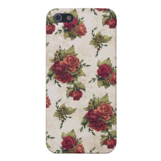 Antique Red Rose Wallpaper Case For iPhone SE/5/5s