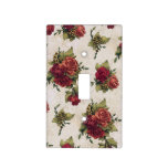 Antique Red Rose Wallpaper Light Switch Cover