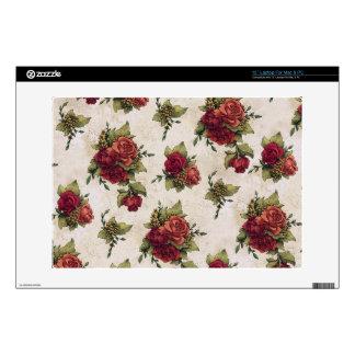 "Antique Red Rose Wallpaper Skin For 13"" Laptop"
