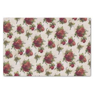 Antique Red Rose Wallpaper Tissue Paper
