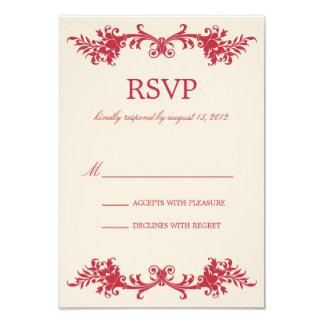 ANTIQUE RED   RSVP CARD