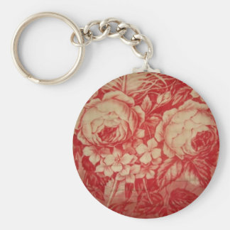 Antique Red Toile Keychain