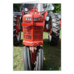 Antique Red Tractor Cards