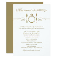 Antique Rehearsal Dinner | Eat Drink Be Married Invitation